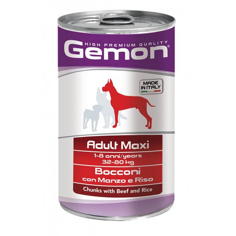 Gemon Adult Maxi konservai su jautiena ir ryžiais didelių