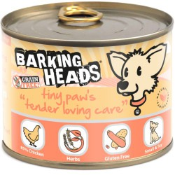 Barking Heads Tiny Paws Tender Lowing Care konservai be grūdų