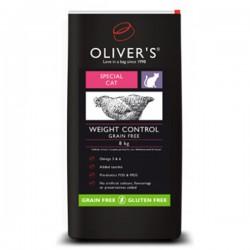 Oliver's Cat Weight Control Grain Free sausas maistas be grūdų