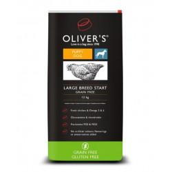 Oliver's Large Breed Start Grain Free sausas maistas šuniukams