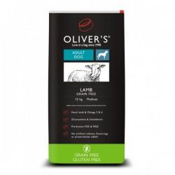 Oliver's Lamb Grain Free Medium sausas maistas su ėriena šunims