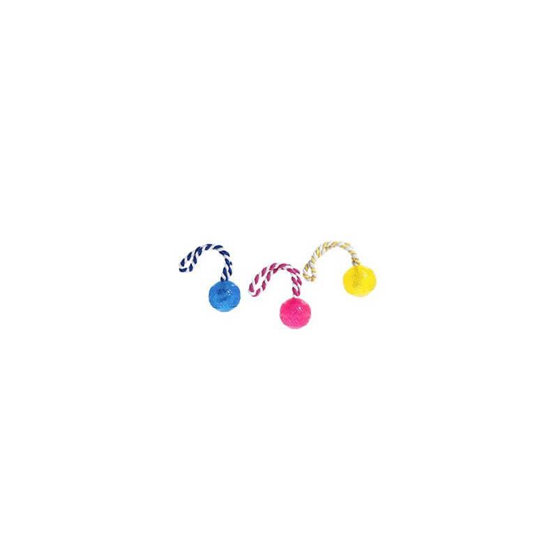Karlie Flamingo kamuoliukas ant virvės šunims