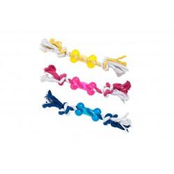 Karlie Flamingo TPR bone with rope žaislas šunims