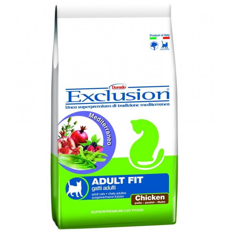 Exclusion Adult Fit Chicken sausas maistas su vištiena katėms