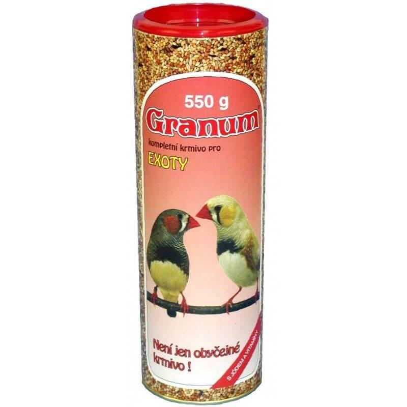 Granum maistas egzotiniams paukščiams