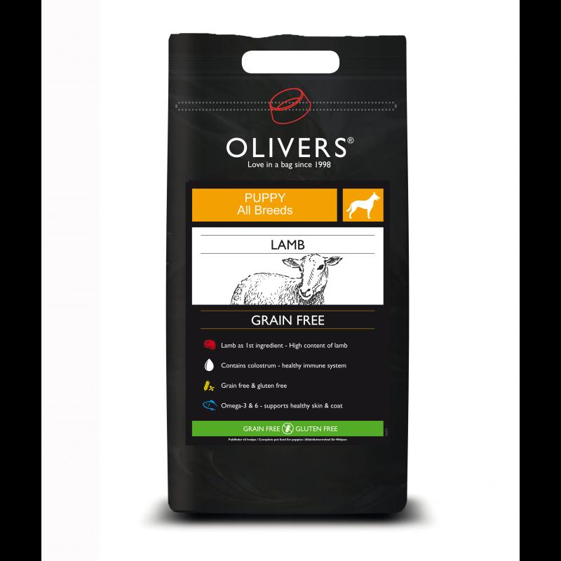 Oliver's Lamb Grain Free puppy all breeds sausas maistas visų veislių šuniukams