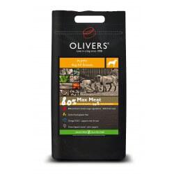 Oliver's Max Meat puppy all breeds sausas maistas visų veislių šuniukams