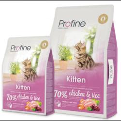 Profine Kitten chicken & rice sausas maistas kačiukams