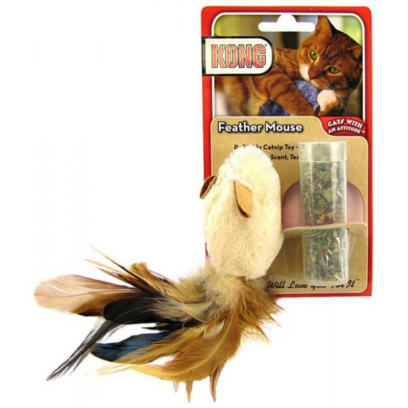 Kong Feather mouse žaislas katėms