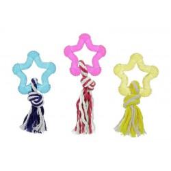 Flamingo žvaigždė su virve žaislas šunims