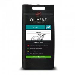 Oliver's Lamb Grain Free Large sausas maistas su ėriena šunims