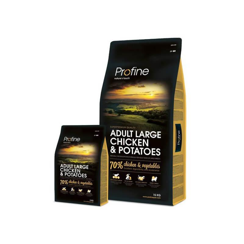 Profine Adult Large Breed Chicken & Potatoes sausas maistas