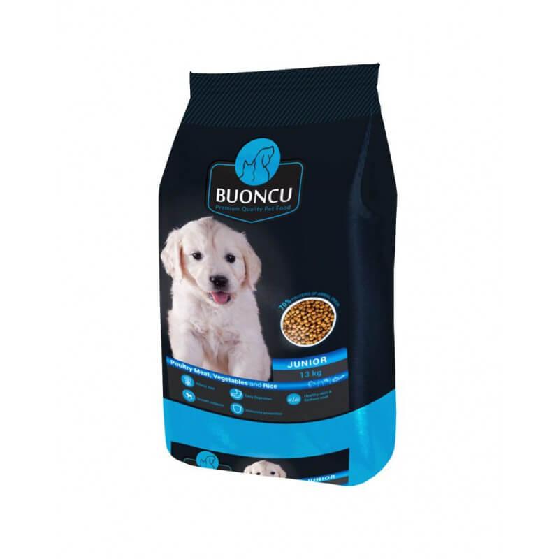 Buoncu Junior poultry meat sausas maistas vidutinių ir didelių veislių šuniukams