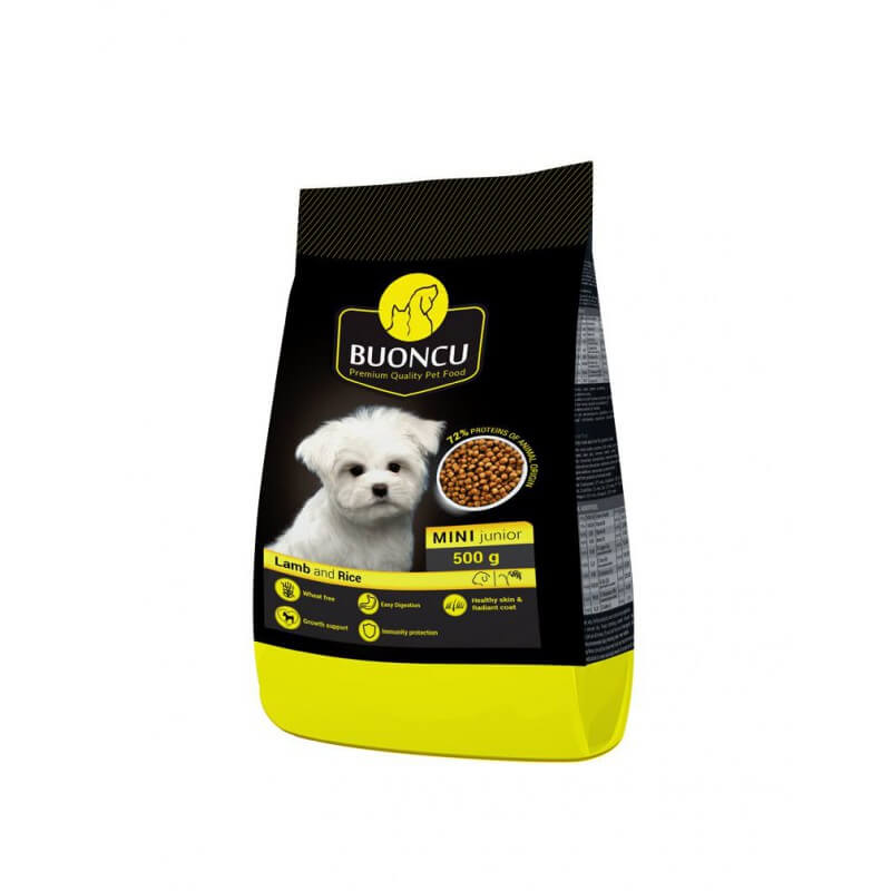 BUONCU Mini junior lamb & rice sausas maistas mažų veislių šuniukams