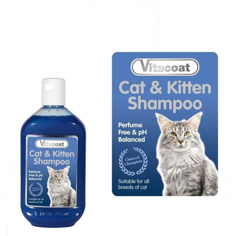 Vitacoat Cat & Kitten šampūnas katėms ir mažiems kačiukams