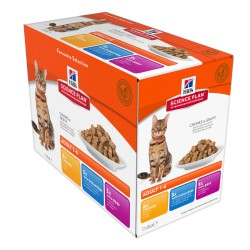 Hill's Feline Adult Multipack Pouch Chicken, Ocean Fish & Beef