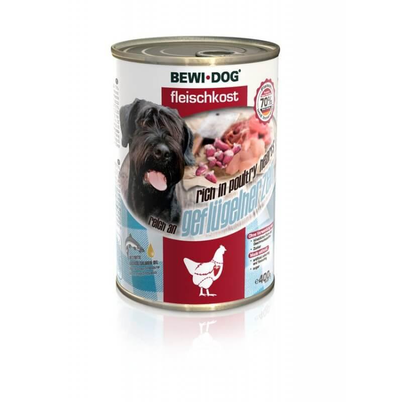 Bewi Dog Poultry hearts konservai su naminių paukščių širdimis šunims