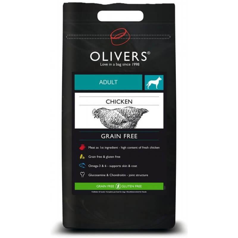 Oliver's Chicken Grain Free Medium sausas maistas šunims