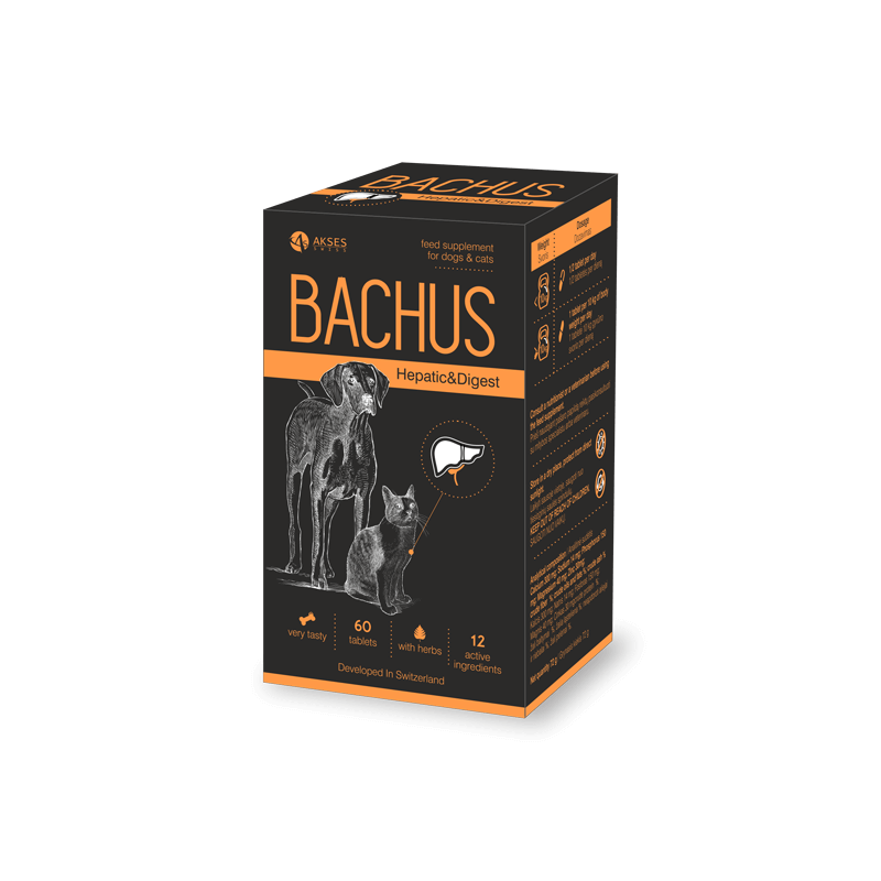 Bachus papildai kepenų ir virškinimo sistemos veiklai gerinti šunims ir katėms