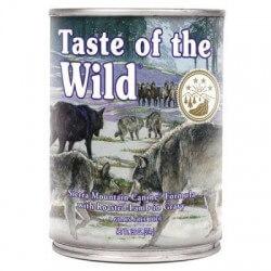 Taste of the Wild Sierra Mountain begrūdžiai konservai su ėriena šunims