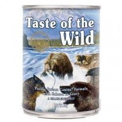 Taste of the Wild Pacific Stream begrūdžiai konservai su šviežia ir rūkyta lašiša šunims