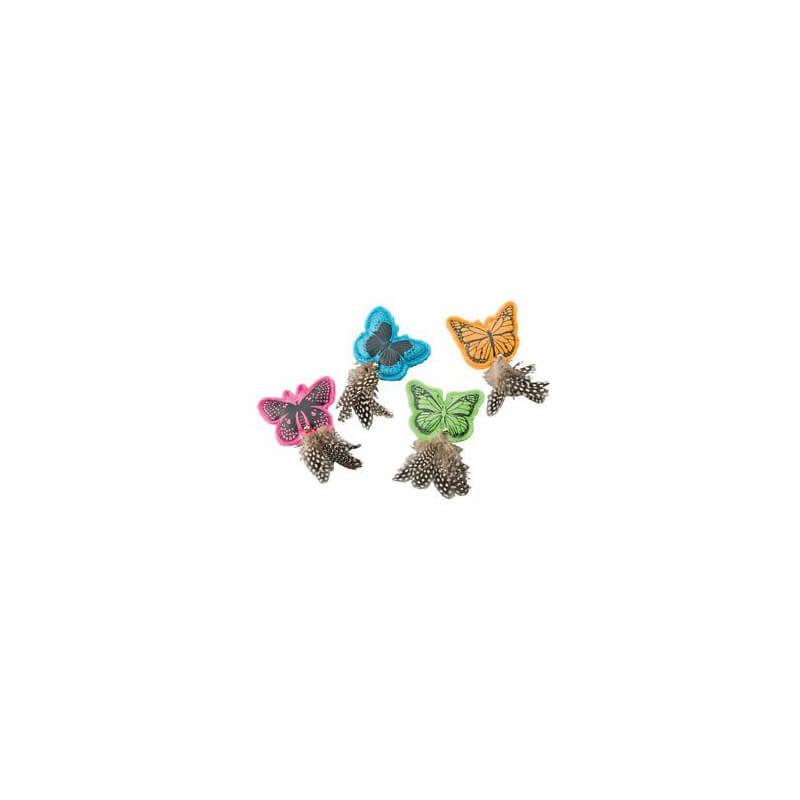 Ethical Products žaislas drugelis su plunksnomis ir varpeliu (su katžole) katėms