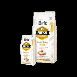 Brit Fresh Chicken With Potato Adult sausas maistas šunims