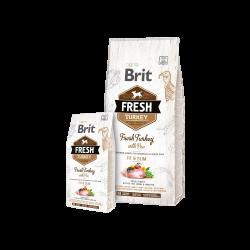Brit Fresh Turkey with Pea Light Fit&Slim sausas maistas šunims