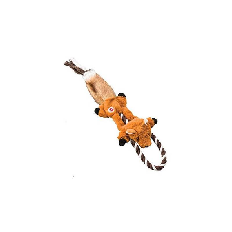 Ethical Products žaislas Skinneeez lapė su virve šunims