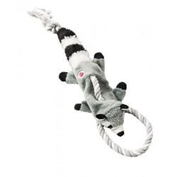 Ethical Products žaislas Skinneeez meškėnas su virve šunims