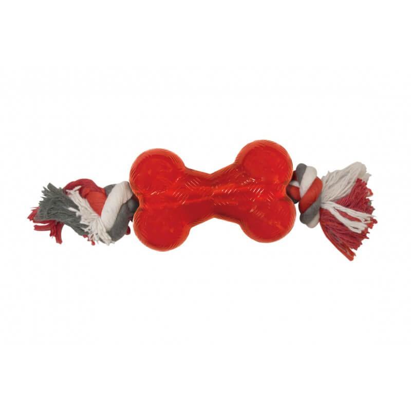 Ethical Products žaislas Play Strong kaulas guminis su virve šunims