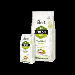 Brit Fresh Duck with Millet Active sausas maistas aktyviems šunims