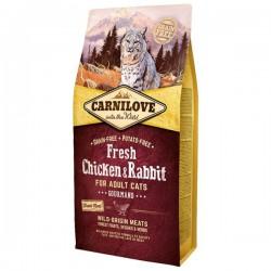 Carni Love Fresh Chicken & Rabbit sausas maistas katėms