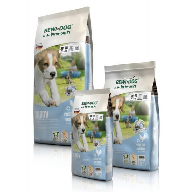 Bewi Dog Puppy sausas maistas su naminių paukščių mėsa šuniukams