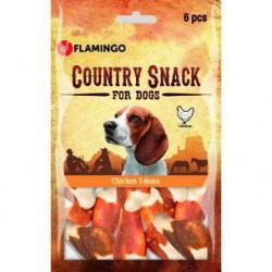 Flamingo Country T Bone kauliukai skanėstai šunims su vištiena