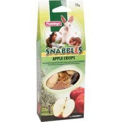 Flamingo Snabbles obuolių skanėstai – traškučiai graužikams