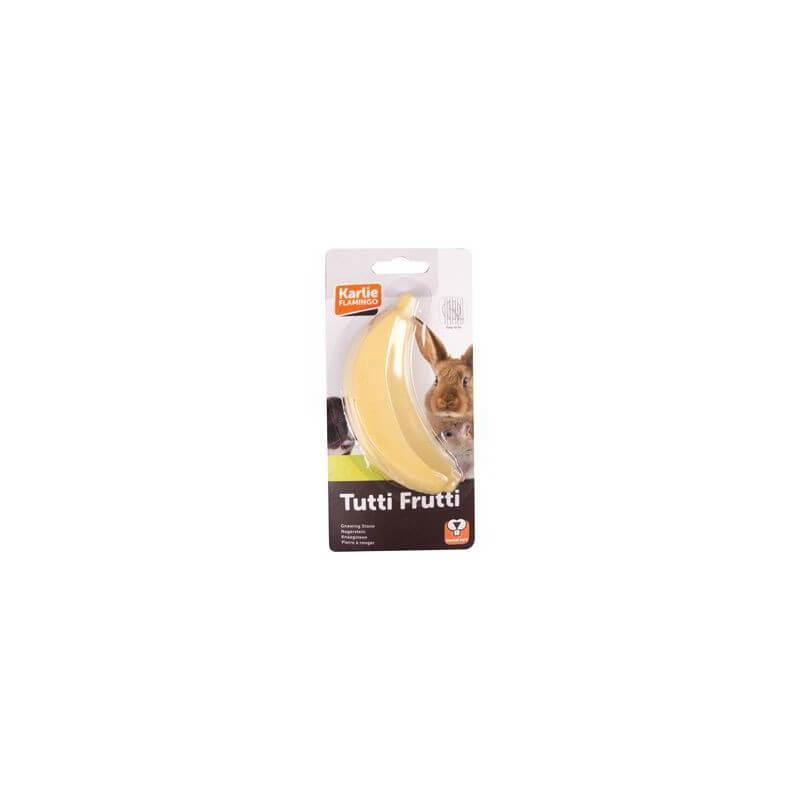 Flamingo Tutti Frutti mineralinis akmuo - bananas graužikams