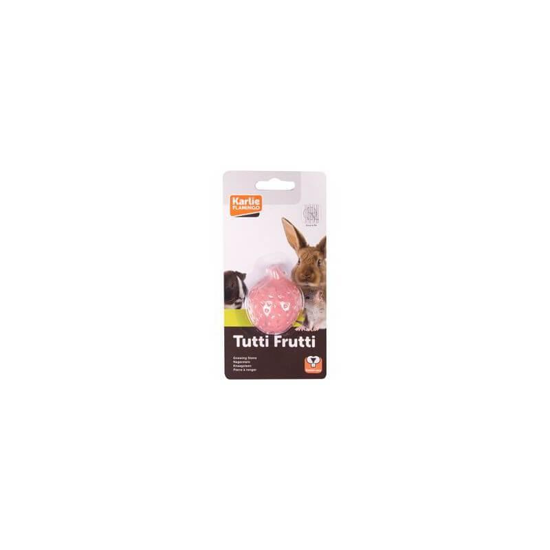 Flamingo Tutti Frutti mineralinis akmuo - braškė graužikams