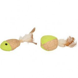 Flamingo Juty kamuoliukas ir žuvytė žaislas katėms