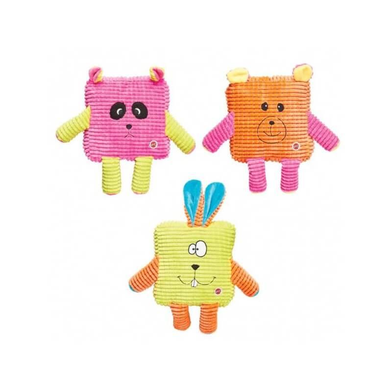 """Ethical Products medžiaginis cypsintis kvadratinis žaislas """"Calypso Cuties"""" šunims"""