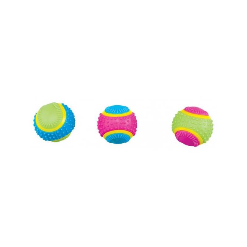 Ethical Products žaislas guminis kamuolys su varpeliu šunims
