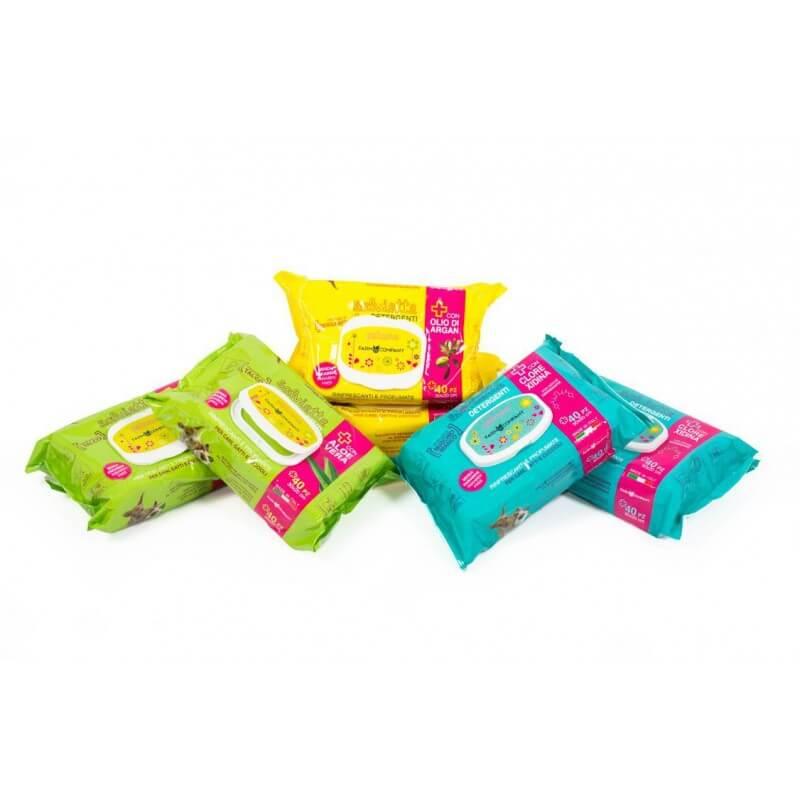 Farm Company drėgnos servetėlės su bergamočių kvapu ir argano aliejumi naminių gyvūnų letenėlių ir kailio valymui