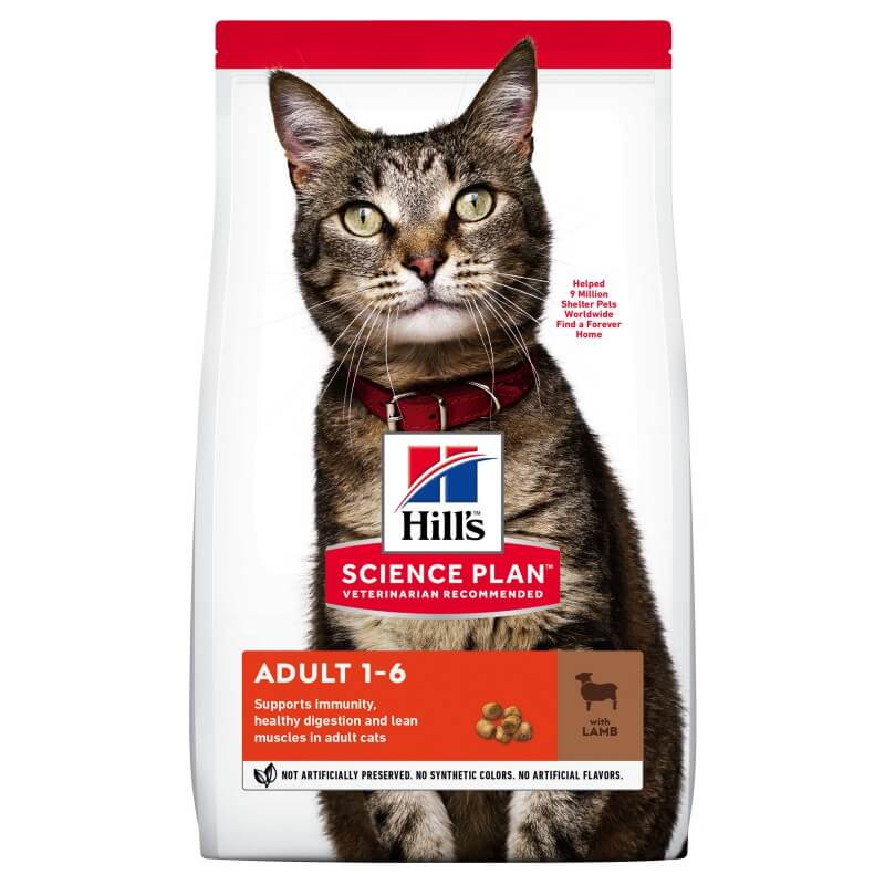 Hill's Science Plan Feline Adult Optimal Care Lamb & Rice