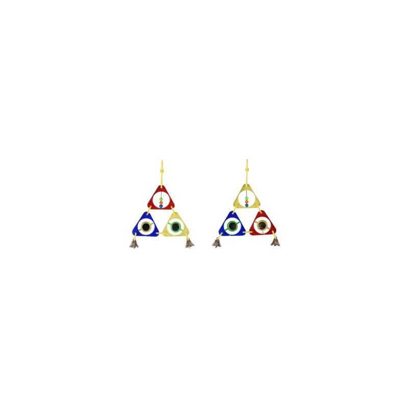 Flamingo trikampis žaislas paukščiams