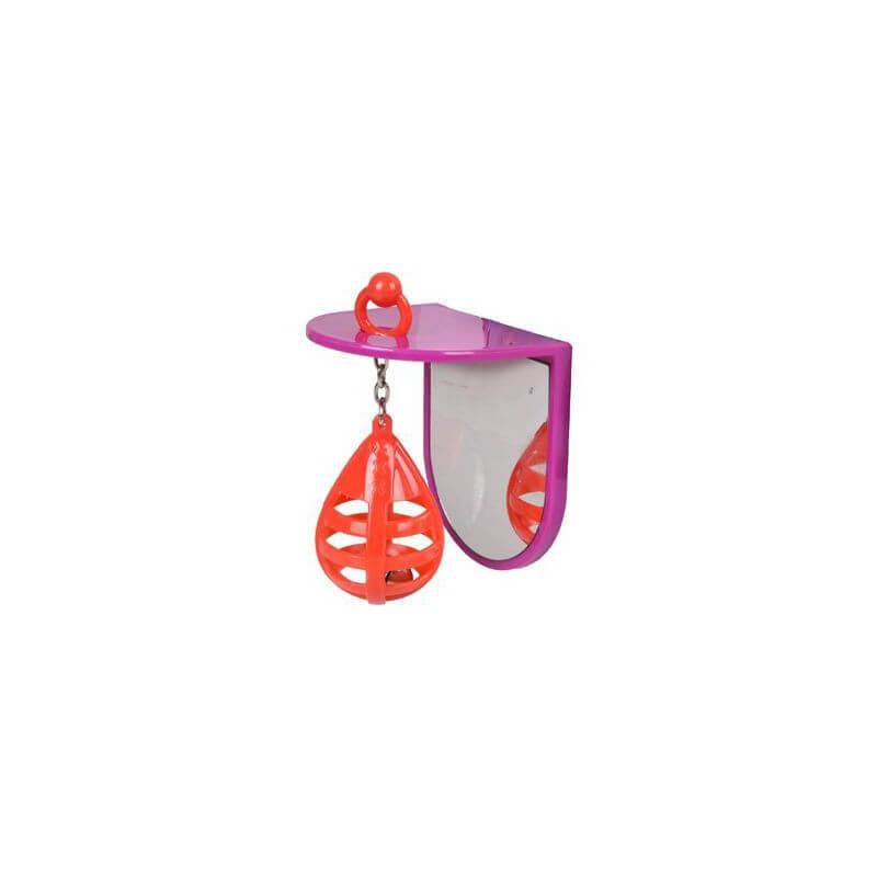 Flamingo veidrodėlis su kamuoliuku žaislas paukščiams