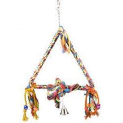 Flamingo Rope Triangle žaislas paukščiams
