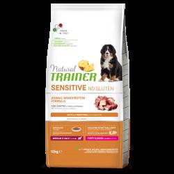 Natural Trainer Puppy Medium/Maxi No Gluten Duck Rice sausas maistas šuniukams