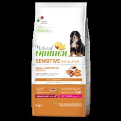 Natural Trainer Puppy Medium&Maxi sausas maistas su lašiša jauniems šuniukams