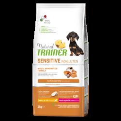 Natural Trainer Puppy & Junior Mini No Gluten Salmon Rise Oil sausas maistas su lašiša šuniukams