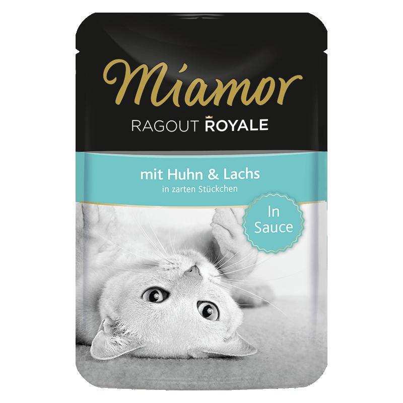 Miamor Royale In Sauce konservai su vištiena ir lašiša katėms